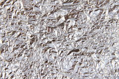 Crumpled aluminum foil Royalty Free Stock Images