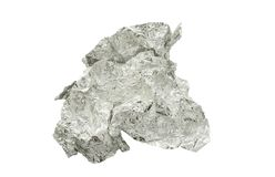 Crumpled aluminum foil isolated Royalty Free Stock Photos