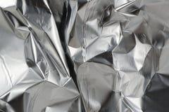 Crumpled Aluminum Foil Stock Image