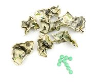 Crumpled american money Royalty Free Stock Photography