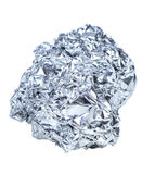 Crumpled ball of aluminum Stock Photos