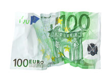Crumpled banknote. Stock Image
