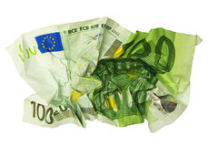 Crumpled banknote Stock Photos