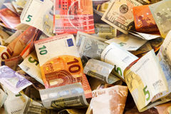 Crumpled banknotes Royalty Free Stock Image