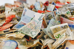 Crumpled banknotes Royalty Free Stock Images