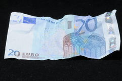 Crumpled Banknotes Money Stock Image