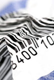 Crumpled barcode Stock Photos