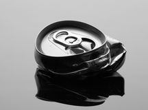 Crumpled beverage can Stock Image