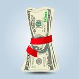 The crumpled bills of dollars Stock Image