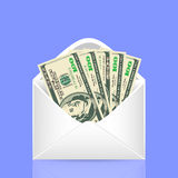 The crumpled bills of dollars. Royalty Free Stock Photo