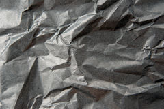 Crumpled Black Paper Royalty Free Stock Photos