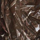 Crumpled black plastic bag Stock Photography
