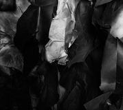 Crumpled black and white paper, background Royalty Free Stock Photo
