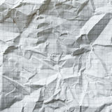 Crumpled blank math paper Royalty Free Stock Photo