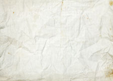 Crumpled blank white old lined paper background Royalty Free Stock Photography