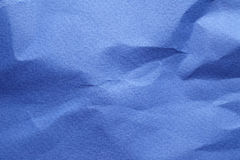 Crumpled blue cardboard Royalty Free Stock Images