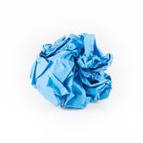 Crumpled blue paper Royalty Free Stock Image