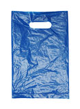Crumpled blue plastic bag Stock Photography