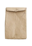 Crumpled brown envelope isolated Royalty Free Stock Photography