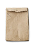 Crumpled brown envelope with shadow Stock Image