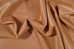 Crumpled brown fabric Stock Image