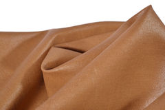 Crumpled brown fabric Royalty Free Stock Image