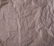 Crumpled brown kraft paper Stock Photography