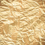 Crumpled brown Paper. From a package as background texture royalty free stock photo