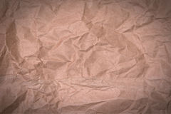 Crumpled brown paper Stock Photography