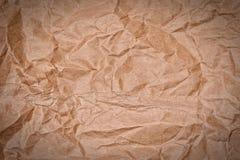 Crumpled brown paper Stock Photos
