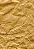 Crumpled brown paper bag Stock Photos