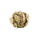 Crumpled brown paper ball isolated royalty free stock photography