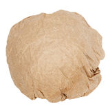 Crumpled brown paper ball Royalty Free Stock Image