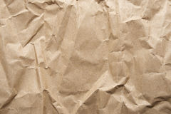 Crumpled brown Paper Stock Photo