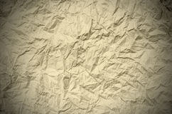 Crumpled brown Paper from a package as background texture Royalty Free Stock Photos