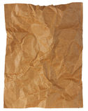 Crumpled brown paper paper sheet isolated Royalty Free Stock Photography