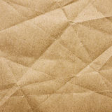 Crumpled brown paper texture Royalty Free Stock Photos