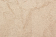 Crumpled brown paper texture Royalty Free Stock Image