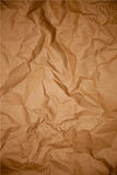 Crumpled brown paper texture Royalty Free Stock Images