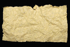 Crumpled Brown Paper Texture Royalty Free Stock Photography