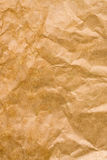 Crumpled brown paper textured background Stock Photography