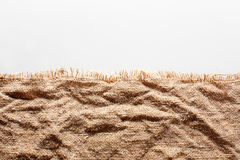 Crumpled burlap with torn edge Stock Photography
