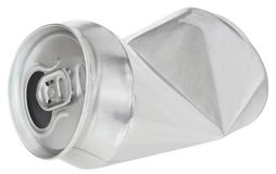 Crumpled can. On white background Royalty Free Stock Photo