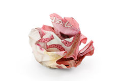 Crumpled canadian dollar ball Stock Image