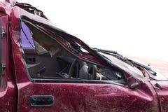 Crumpled car door. Royalty Free Stock Images