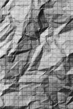 Crumpled checkered paper. macro photo Royalty Free Stock Photos
