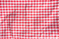 Crumpled checkered tablecloth Royalty Free Stock Images