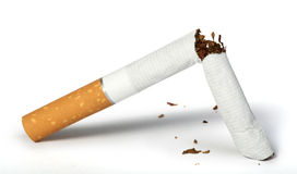 Crumpled cigarette Stock Images