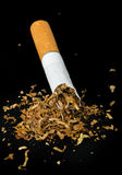 Crumpled cigarette Royalty Free Stock Photo