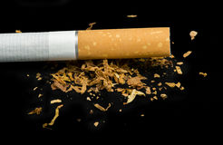 Crumpled cigarette Royalty Free Stock Image